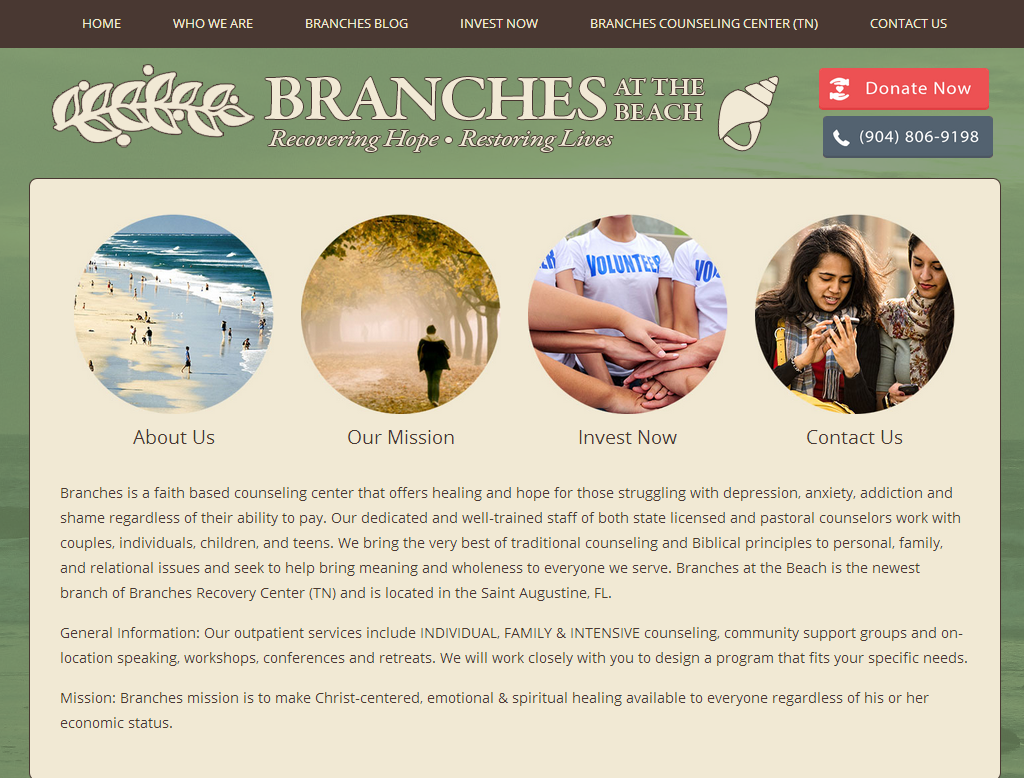 Branches at the Beach<div style='clear:both;width:100%;height:0px;'></div><span class='cat'>Non-Profit</span>