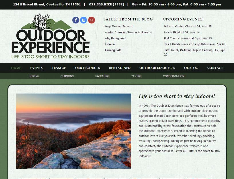 Outdoor Experience<div style='clear:both;width:100%;height:0px;'></div><span class='cat'>Small Business</span>