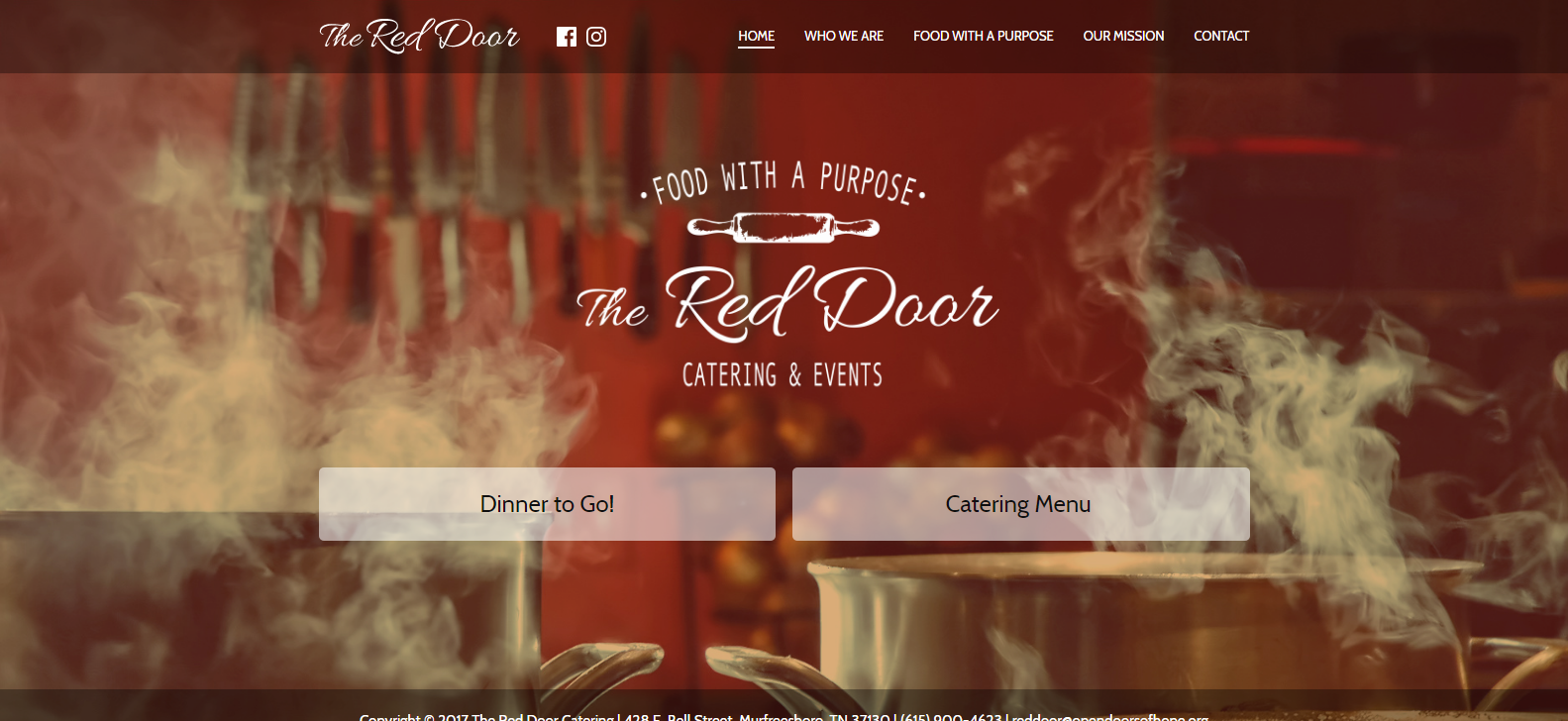 The Red Door Catering<div style='clear:both;width:100%;height:0px;'></div><span class='cat'>Non-Profit</span>