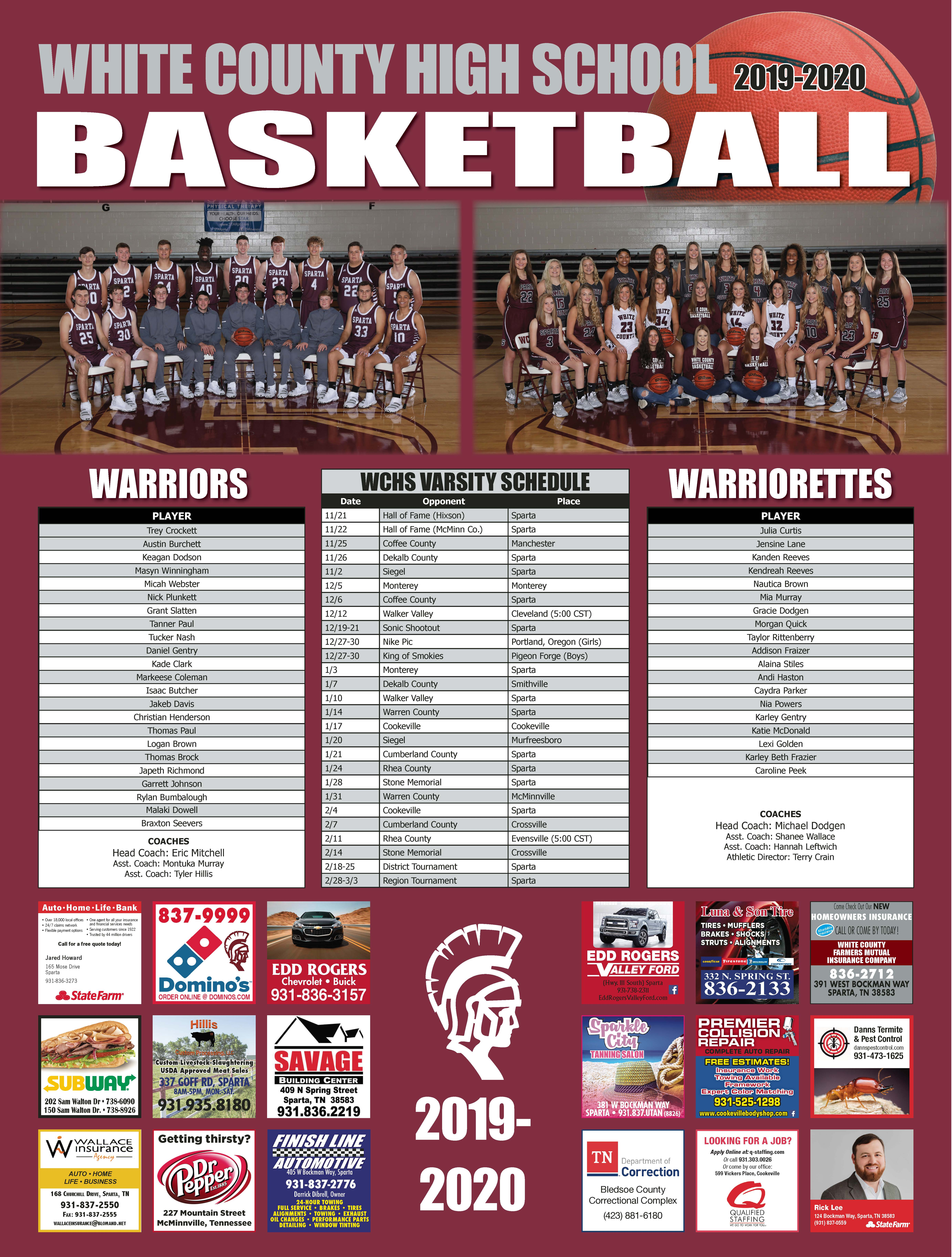 WCHS 2019 Basketball Poster<div style='clear:both;width:100%;height:0px;'></div><span class='cat'>Logos and Printwork</span>